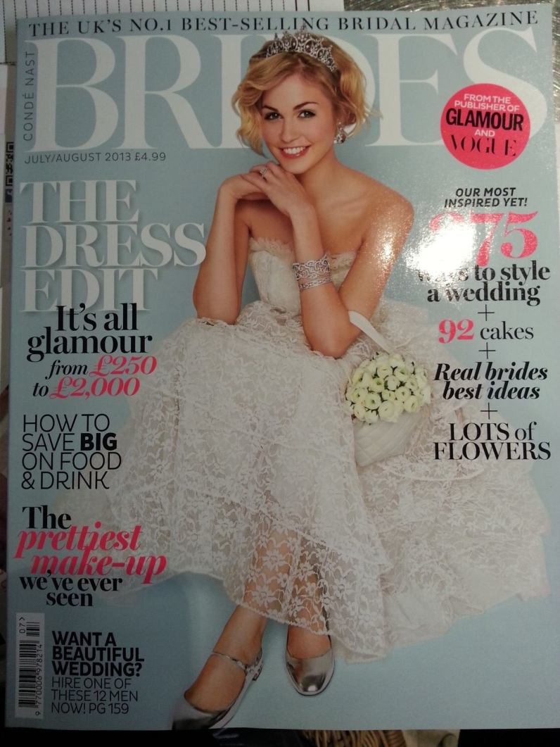 MY FIRST COVER FOR BRIDESMAGAZINE